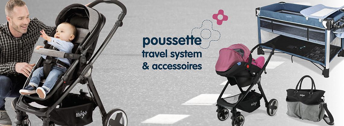 Poussettes, Travel System & Accessoires