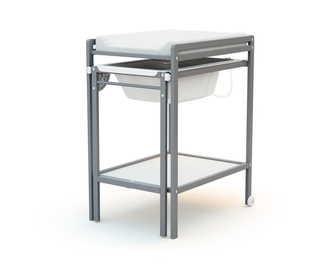 """Table À Langer Petite table à langer en bois avec baignoire """"essentiel"""""""