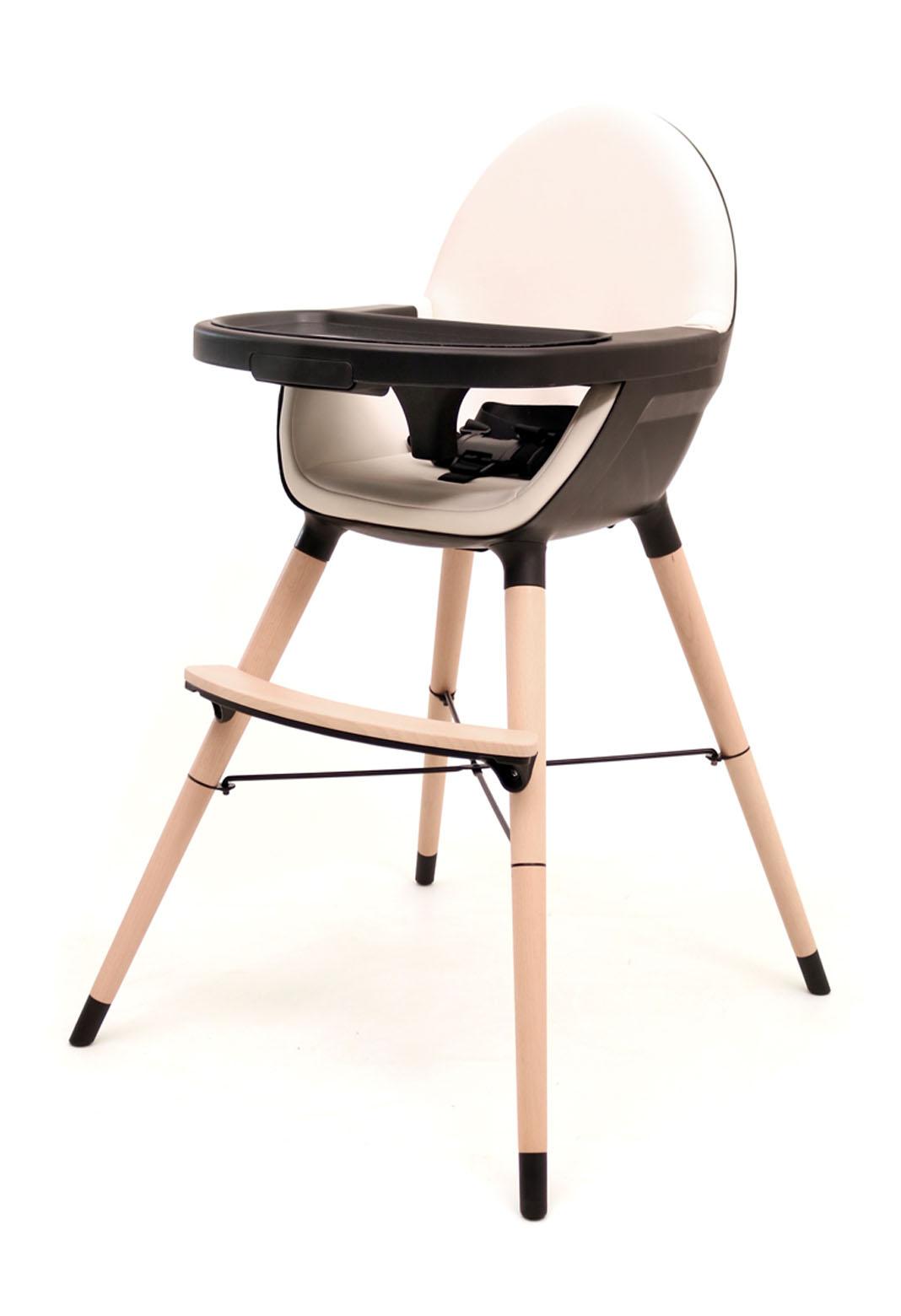 """Chaise haute bébé évolutive """"Essentiel plus"""" - Noir/Sable"""